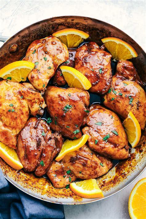 honey orange skillet chicken  dinner tonight