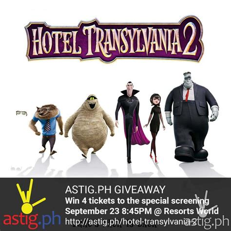 Hotel Giveaway - hotel transylvania 2 giveaway astig ph