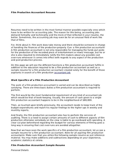 Production Accountant Cover Letter by Automotive Instructor Resume A Automotive Mechanic Resume Occupational Exles Sles