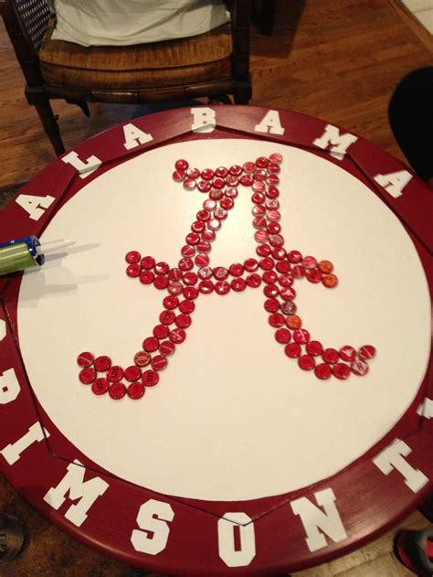 bottle cap coffee table paint and bottle cap of alabama coffee