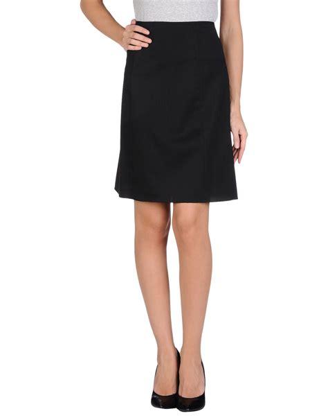 jil sander navy knee length skirt in black save 43 lyst