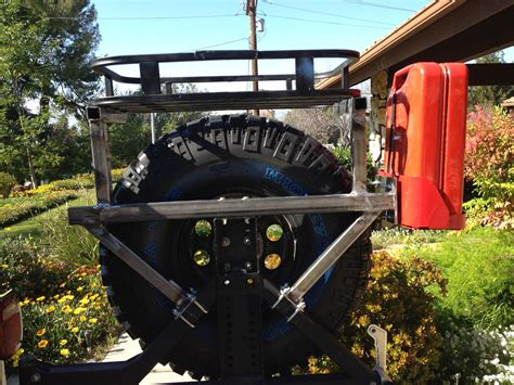 diy spare tire rack  dream  jeeping jeep wrangler tires jeep tire carrier tire rack