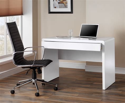 High Gloss Computer Desk White High Gloss White Workstation Computer Desk By Luxor Uk