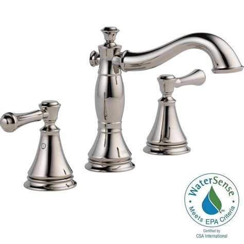 delta cassidy 8 in widespread 2 handle bathroom faucet