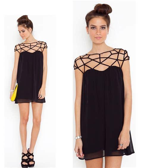 Penbaju Winter casual dresses new fashion 2014 summer dress black lace design sweet chiffon