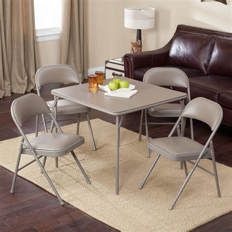 card table chairs set meco sudden comfort deluxe padded chair and back