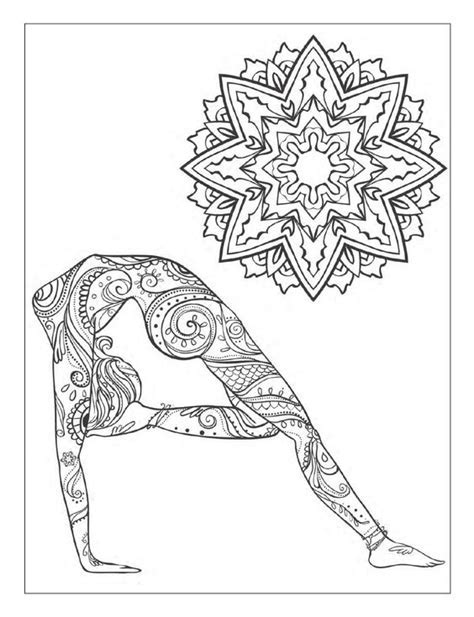Yoga And Meditation Coloring Book For Adults With