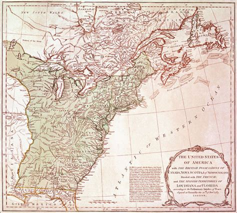 1783 map of the united states united states map history history of united states maps