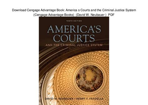 courts and criminals books cengage advantage book america s courts and the