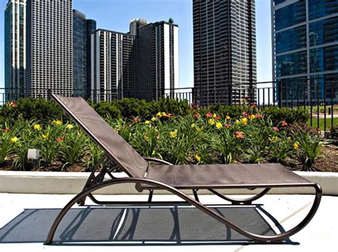 lascala sling chaise lounge outdoor patio furniture