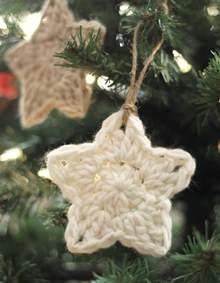crochet star ornaments free pattern