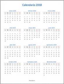 Calendario 2018 Para Imprimir Gratis Calendarios 2018 En Excel Para Imprimir Y Editables
