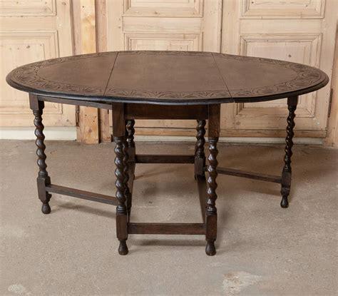 Gateleg Drop Leaf Table Gateleg Drop Leaf Oak Table At 1stdibs