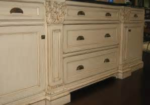 Hand painted and distressed kitchen cabinetry traditional chicago