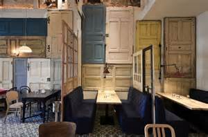 recycled interior doors restaurant interior made out of salvaged doors windows