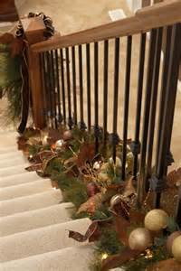How To Decorate Garland by Decor Twist Garland At The Bottom Of Stair