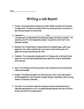 8 best images about lab reports on pinterest | student