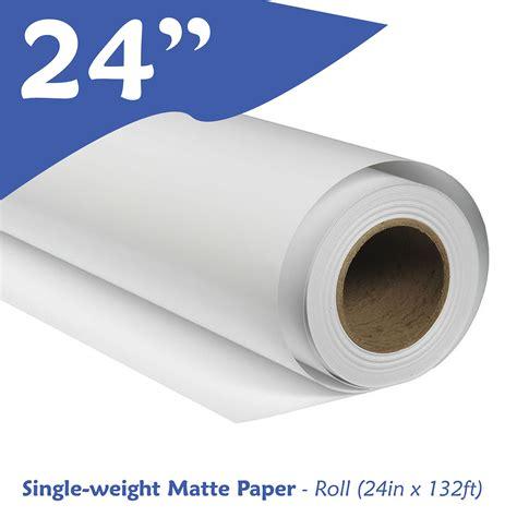 Single Matte single weight matte paper roll 24in x 132ft easy