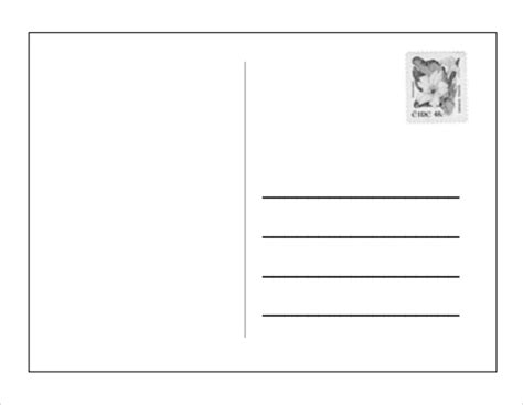 blank card template doc blank postcard template 9 free document in pdf
