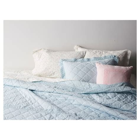 crochet trim linen blend bedding collection simply shabby chic target