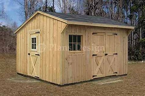 wooden storage saltbox style shed plans material list included  ebay