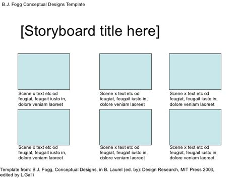 Conceptual Design Template b j fogg conceptual design template edited by l galli