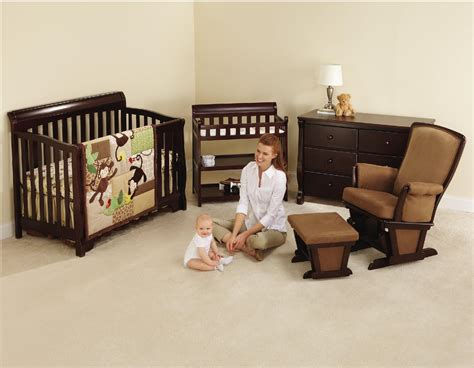 Crib And Mattress Set Wood Nursery Furniture Sets Thenurseries