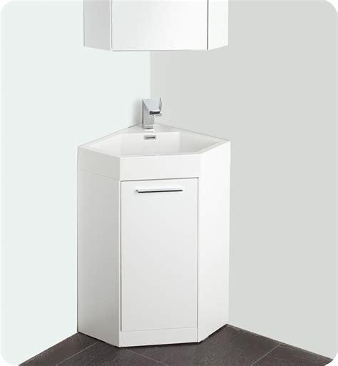 18 fresca coda fvn5084wh white modern corner bathroom