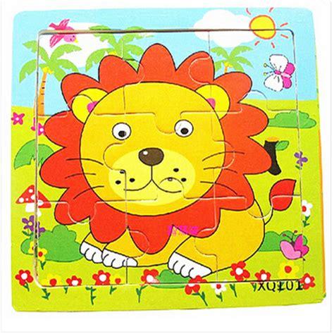 Puzzle Kayu Jigsaw Hewan by 1 Pc 9 Bagian Kartun Singa Hewan Puzzle 2 9 Tahun Bayi