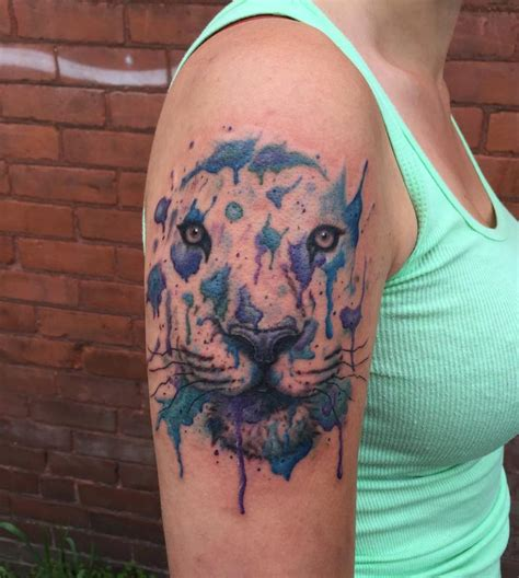 watercolor tiger tattoo abstract tiger