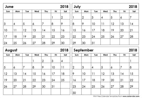 printable calendar july august 2018 june july august september 2018 calendar blank printable