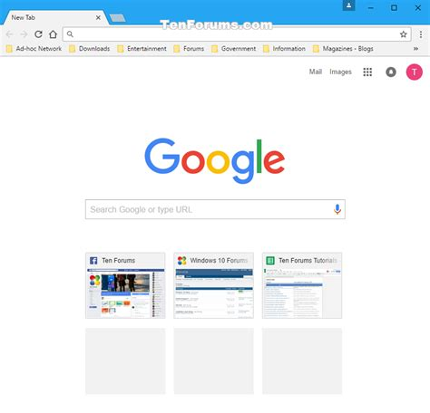 change homepage in chrome for windows windows 10