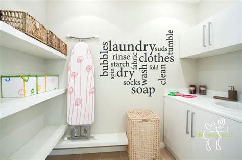 decorating laundry room walls creative wall sticker pattern for laundry room decor ideas