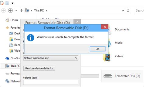 format flash disk windows windows was unable to complete the format how to fix