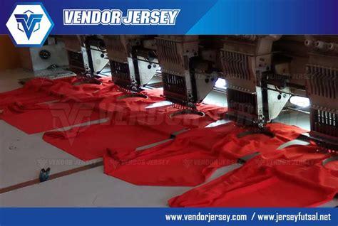 Bordir Logo Custom Desain Sendiri pembuatan baju olahraga futsal acara ulang tahun telkomsel vendor jersey