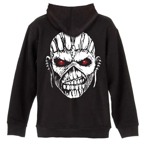 Hoodie Iron 2 Cloth official iron maiden hoody hoodie zip up axe eddie