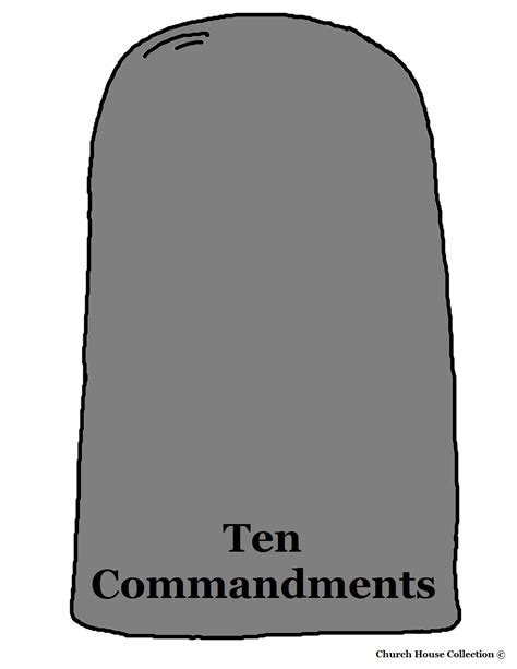27 Images Of Blank Stone Tablet Template Eucotech Com Ten Commandments Printable Template