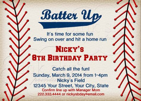 baseball birthday invitations 16 free psd vector eps