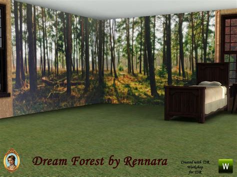 Sims 3 Bedroom Sets Rennara S Dream Forest Wall Mural