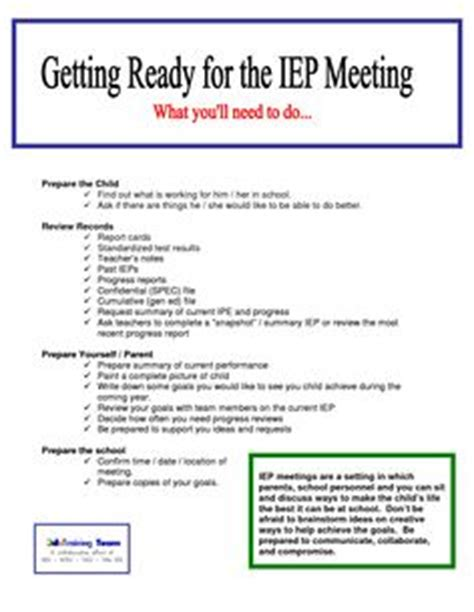 iep meeting agenda template pictures to pin on pinterest