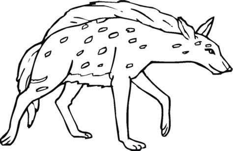 baby hyena coloring page spotted or laughing hyena coloring page supercoloring com