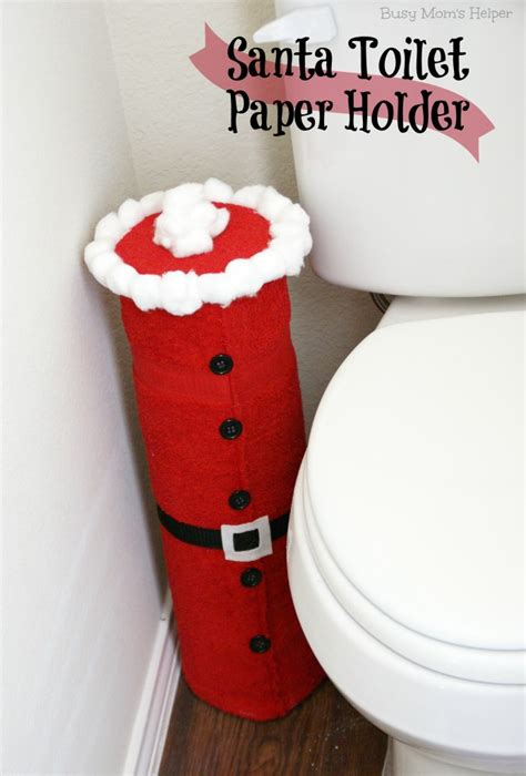 toilet paper santa craft santa toilet paper holder busy helper