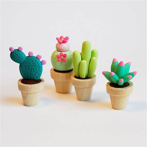 cute cactus pots cute clay figurines by afsaneh tajvidi