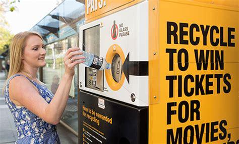 reverse vending machines recycle cans  cash rewards
