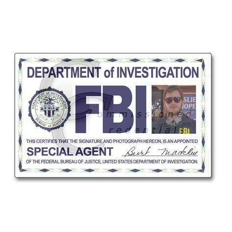 design custom id card fbi pawnee commissioned credentials
