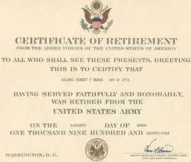 Certification Letter For Retirement Army Retirement Quotes Quotesgram