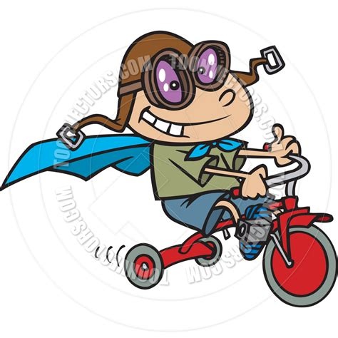 tricycle cartoon cartoon boy riding a tricycle by ron leishman toon