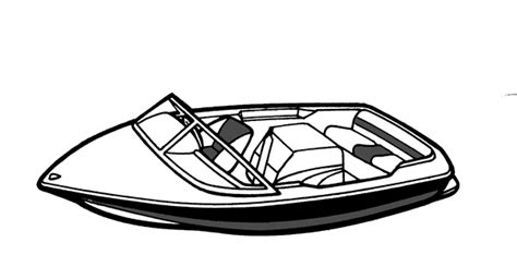 how to draw a boat motor semi custom cover for tournament ski boat 21 6 quot x 96