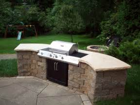 custom built in barbecue modern home exteriors