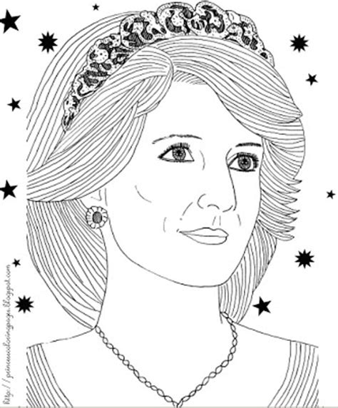 Princess Diana Coloring Pages princess coloring pages